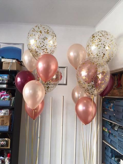Huwelijk confetti ballonnen