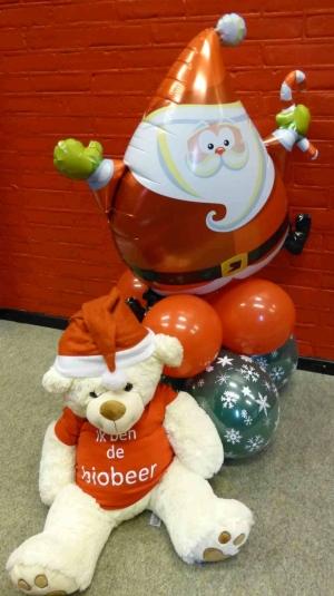 Kerstman deco (luchtgevuld)