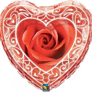 Red Rose with Hearts