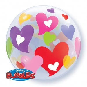 Colourful Hearts Bubble