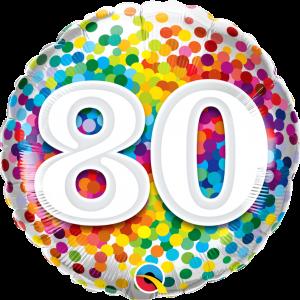 Ballon 80 – Rainbow confetti
