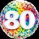Ballon 20 – Rainbow confetti