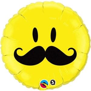 Smiley face mustache