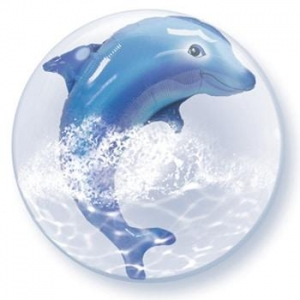 Bubble jumping dolphin