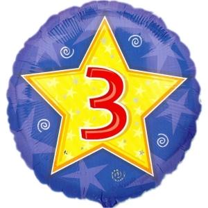 Ballon 3 jaar ster