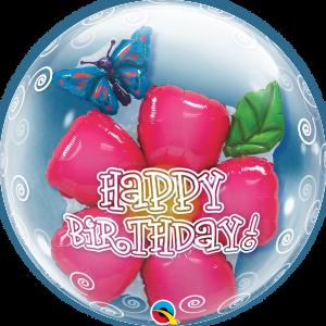Double bubble flower – Happy Birthday