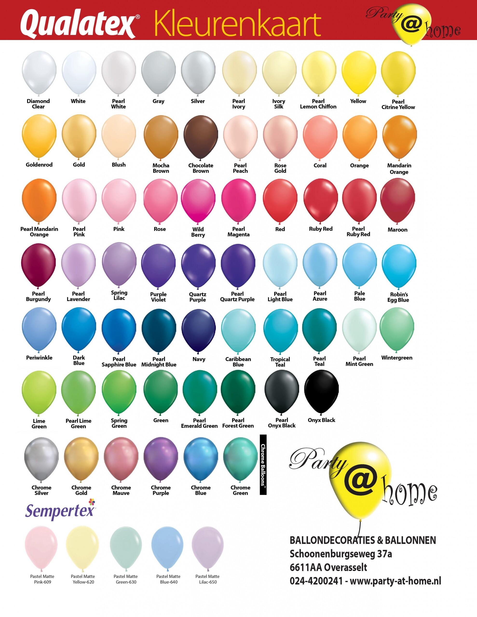 ballon kleuren keuze